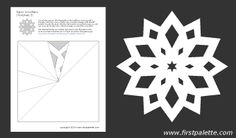 Printable paper snowflake templates with directions. Christmas