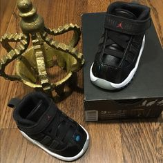 Jordan infant retro XI 11 black/white Brand new worn twice no signs of wear comes w box 100% authentic. Infant new releases December 2015 Jordan retro XI 11 black/white Size: 3c !!!Price is firm!!! Please feel free to ask questions selling on Mercari $63 Jordan Other