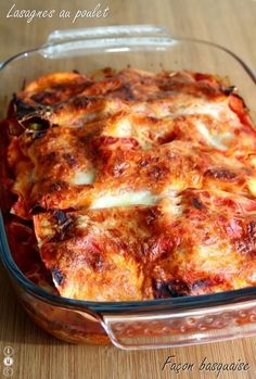 Basque style chicken lasagna Source by Diner Recipes, Gourmet Recipes, Cooking Recipes, Healthy Recipes, Chicken Lasagna, Food Is Fuel, Food Diary, Winter Food, Polenta