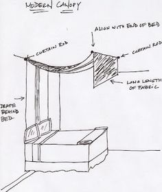 DIY Canopy bed                                                                                                                                                      More