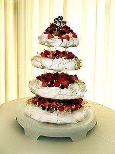 Absolutely Delicious pavlova wedding cake.
