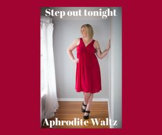 A fun red versatile Precious Curves gown that can go out on the town and help you sleep in too.