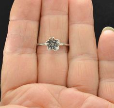 Flower Ring Forget Me Not Ring Sterling Ring Metalsmith