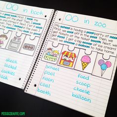 Phonics fluency notebooks are one of my favorite literacy activities for teaching students to read with fluency and comprehension. I love them because they are hands on and interactive and require t Phonics Reading, Teaching Phonics, Phonics Activities, Reading Activities, Teaching Reading, Reading Comprehension, Guided Reading, Teaching Themes, Reading Tutoring