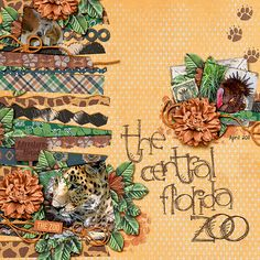 Central Florida Zoo by Tanyia (Tanyia)  We love this zoo layout using the Lots of Strips Templates for all the different paper strips along the left side, her beautiful clustering and title work. Grrreat!