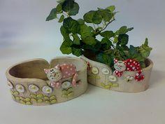 Gatos cerámica