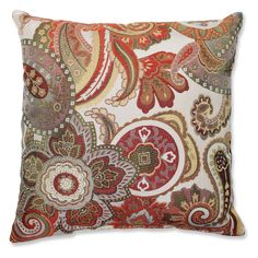 Pillow Perfect Crazy Rosewood Throw Pillow | from hayneedle.com
