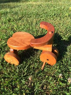 A personal favorite from my Etsy shop https://www.etsy.com/listing/256292147/cherry-wood-tricycle-with-heart-shaped