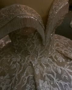 Luxury long train ball gown wedding dress with full beading 😍😍 Off the shoulder straps with hand on clear beads from Amanda Novias Blue Wedding Gowns, African Wedding Dress, Stunning Wedding Dresses, Luxury Wedding Dress, Princess Wedding Dresses, Dream Wedding Dresses, Bridal Dresses, Gown Wedding, Beaded Gown