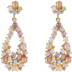 Kenneth Jay Lane Opalescent Drop Earrings ($200) ❤ liked on Polyvore featuring jewelry, earrings, purple, kenneth jay lane, drop earrings, sparkle jewelry, oversized earrings and purple jewelry