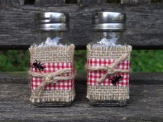 Country Whimsical Salt & Pepper Shakers Country by DaisyDazeDesign, $7.50