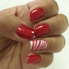 Holiday nails nail art gelish