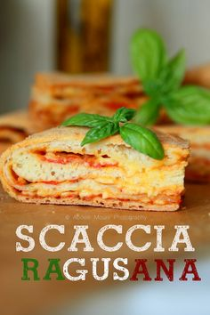 Scaccia Ragusana (Tomato, Cheese & Basil Pie) - Rdv Aux Mignardises chez Mouni
