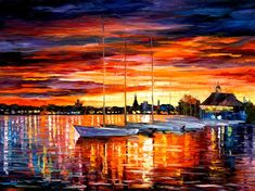 Seaside Paintings Finland Wall Art On Canvas By Afremov