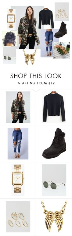 """Untitled #153"" by olivyathompson on Polyvore featuring ASOS, WithChic, Timberland and Vero Moda"