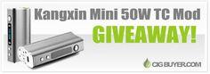 Enter to Win a Kangxin Mini 50W TC Mod from @cigbuyer: http://www.cigbuyer.com/kangxin-mini-50w-mod-giveaway/ #ecigs #vaping #kangxin #boxmod #vapecontest #vapegiveaway