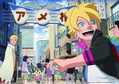 Naruto e Boruto Naruto Shippuden, Kakashi Hokage, Naruto Comic, Naruto Cute, Naruto And Sasuke, Anime Naruto, Uzumaki Family, Familia Uzumaki, Boruto Next Generation
