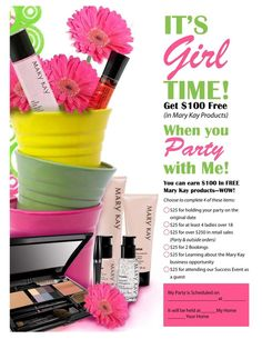 With this, you could get a free TimeWise skincare set or even get your own Startup Kit (retail value over $400) for FREE!! SBakerTX@marykay.com