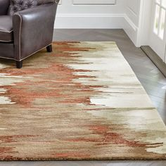 Sale ends soon. This eye-catching rug celebrates the variegated tones and papery bark of birch trees in an abstract pattern that's warm and organic. Contemporary Area Rugs, Modern Rugs, Contemporary Interior, Unique Furniture, Custom Furniture, Terracotta, Living Room Remodel, Carpet Tiles, Furniture