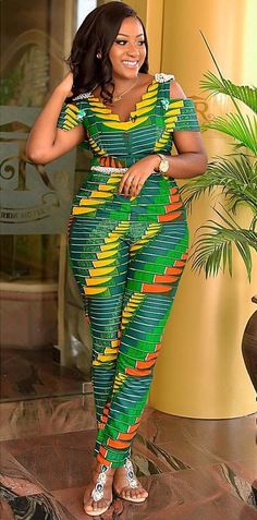latest African print, African fashion, Ankara style in jumpsuit. African Fashion Ankara, African Fashion Designers, Ghanaian Fashion, African Inspired Fashion, African Print Fashion, Africa Fashion, Men's Fashion, Fashion Vintage, Fashion Clothes