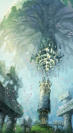 Environment Artwork : The Exiled Realm of Arborea. This makes me want to write a story.