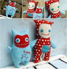 """Stuffed monster...who wouldn't love one of these adorable """"monsters""""....he he"""