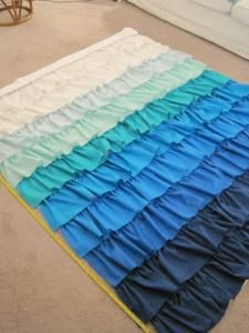 DIY Ruffle Ombre Curtains ruffled curtains for lounge room
