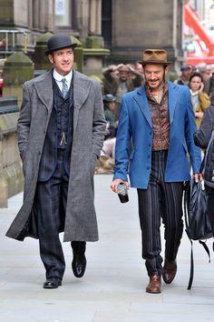 Season 3 #RipperStreet is filming in Manchester @ripper_street Reid & Jackson