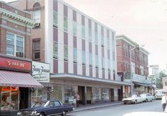 35mm Color Slide 1964 Cars Fanny Farmer 5 and 10 Boston Newcombs Bakery