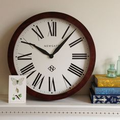 Newgate Wimbledon Clock - Roman - wooden classic wall clock