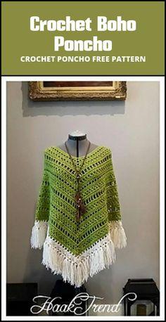free crochet boho poncho pattern