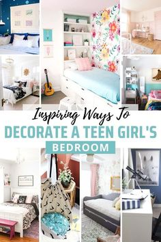 27 Inspiring Ideas for a Teenage Girl Bedroom Makeover // Looking for some inspiration for a teen girl's bedroom? I found 27 creative ideas for DIY projects, small bedrooms, themed bedrooms, grays and neutrals, you name it! Create the perfect dream room for you teen! #teenagegirlbedroom #girlbedroomideas #teengirlbedroommakeovers Small Room Bedroom, Small Rooms, Girls Bedroom, Master Bedrooms, Bed Room, Kids Rooms, Cheap Office Decor, Cheap Home Decor, Bedroom Themes