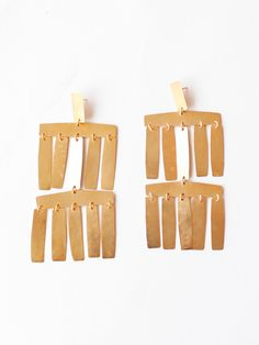 Annie Costello Brown Roma Chandelier Earrings - Gold