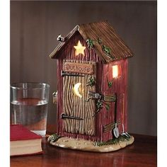 Outhouse Bathroom Decor Nightlight Rustic Bath