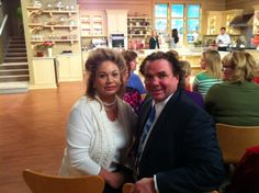 Joni Rogers-Kante and Husband Ben Kante at the Martha Stewart show, watching SeneGence products be showcased