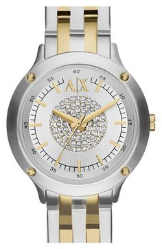 AX Armani Exchange Pavé Dial Bracelet Watch, 30mm available at #Nordstrom