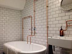 Metro Tiles: Jenny's Industrial Bathroom - Walls and Floors | Walls and Floors