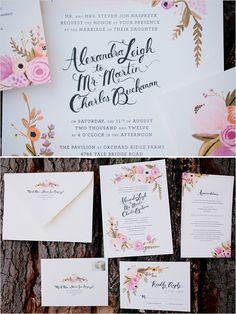 wedding invites by @Anna Bond