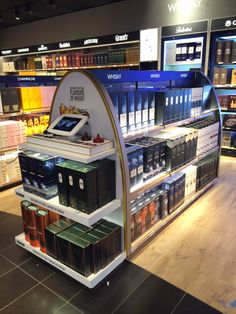 Aélia | mobilier central | Groupe Lindera Central, Jukebox, Whisky, Liquor Cabinet, Retail, Storage, Furniture, Home Decor, Train Station