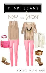 pink jeans outfit - Buscar con Google