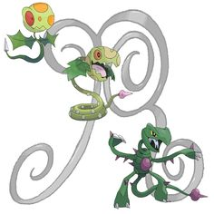 left-right: plantail (grass) depretai (grass/poison) supredor (grass/poison)