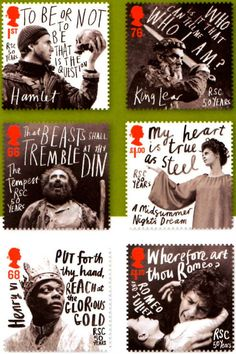 Shakespearean stamps