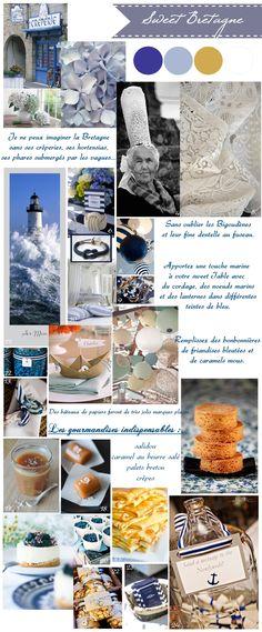 carnet d'inspiration pour une sweet table sur le thème de la Bretagne.