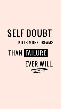 Self doubt sucks. Motivacional Quotes, Wisdom Quotes, True Quotes, Woman Quotes, Qoutes, Hustle Quotes, Study Quotes, Girl Boss Quotes, Encouragement Quotes