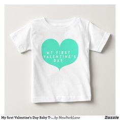 My first Valentine's Day Baby T-Shirt  #valentinesdaygift #babygifts  #heart #valentinesday #babytshirt
