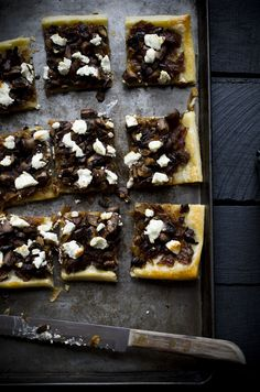 Caramelized Onion, Mushroom and Goat Cheese Tart (on The Mushroom Channel)