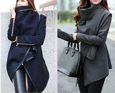Fashion Womens Slim WOOL Warm Long Coat Jacket Trench Windbreaker Parka Outwear