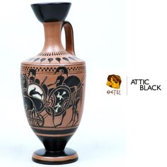 ATTIC BLACK features iconic, handmade pottery showcasing the Grecian heritage & culture.