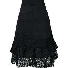 2016 Femme Steampunk vêtements femmes grande taille noir jupe en dentelle de…