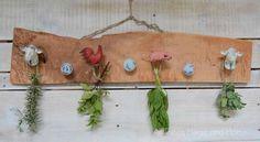 Herb Garden In Kitchen, Kitchen Herbs, Herb Drying Racks, Drying Herbs, Produce Storage, Chalky Finish Paint, Barnyard Animals, Live Edge Wood, Herbal Medicine